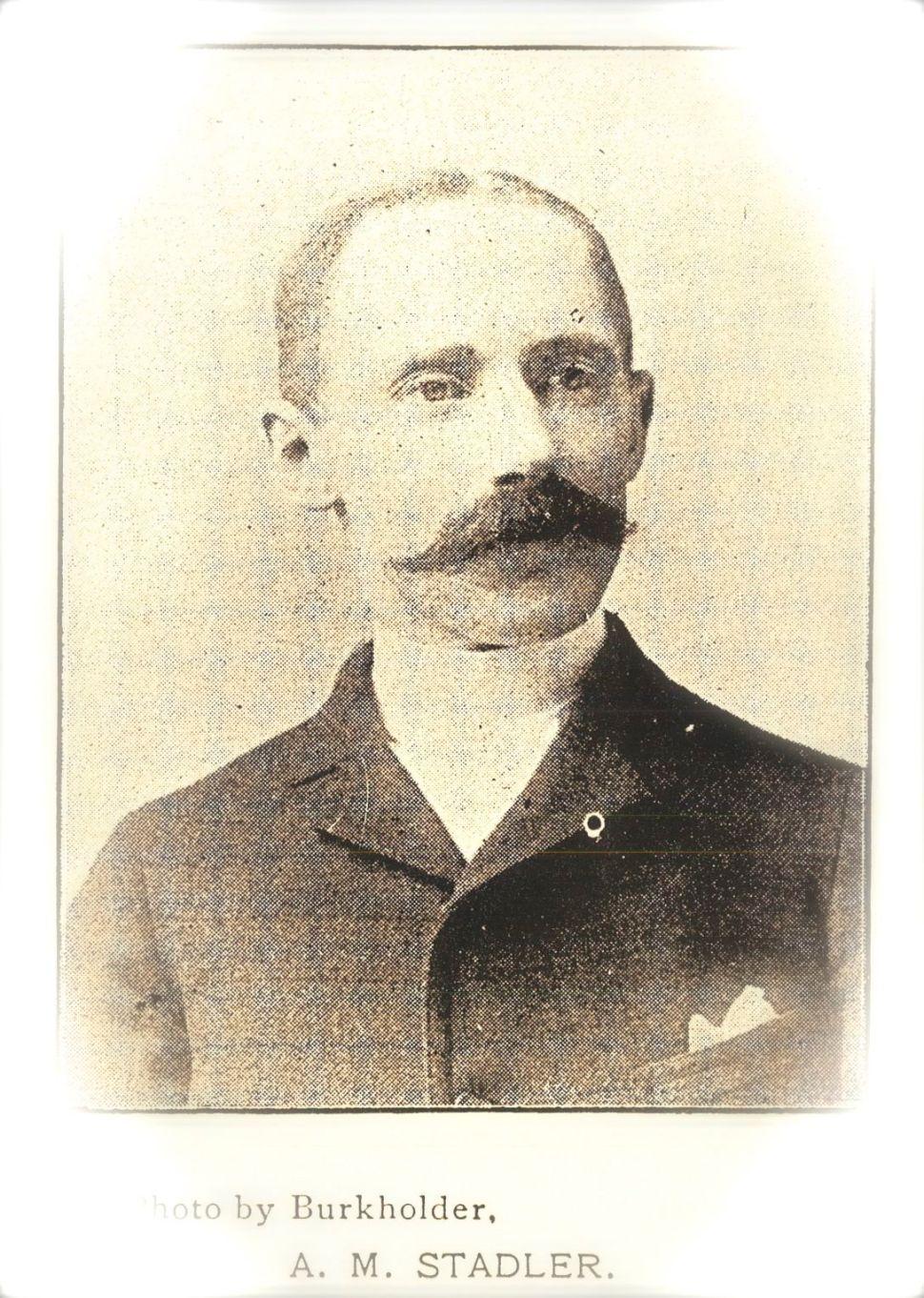 Aaron M. Stadler, Mount Vernon, Ohio, clothier from 1877 to 1905. The Republican, 1896.